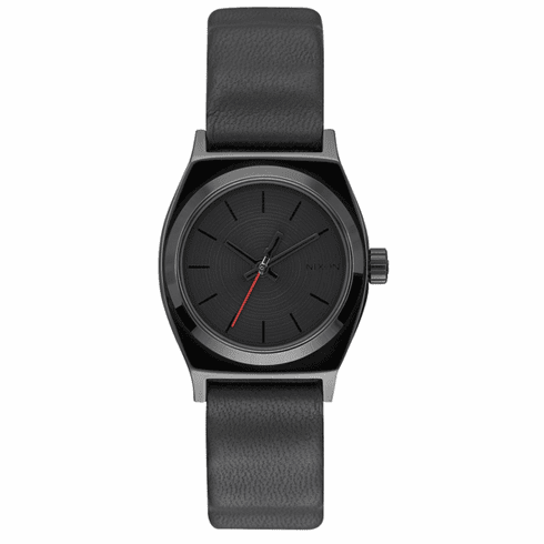 Nixon Small Time Teller Leather Watch<br>STAR WARS x NIXON<br>Vader Black