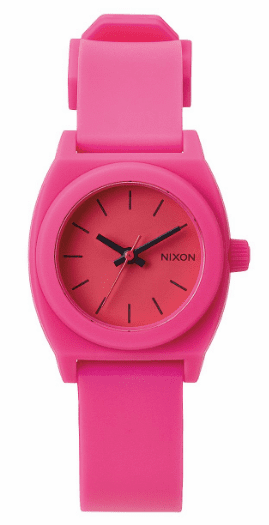 (SALE!!!) Nixon Small Time Teller P Watch<br>Hot Pink