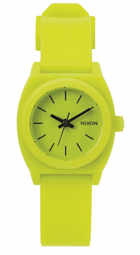 (SALE!!!) Nixon Small Time Teller P Watch<br>Lime