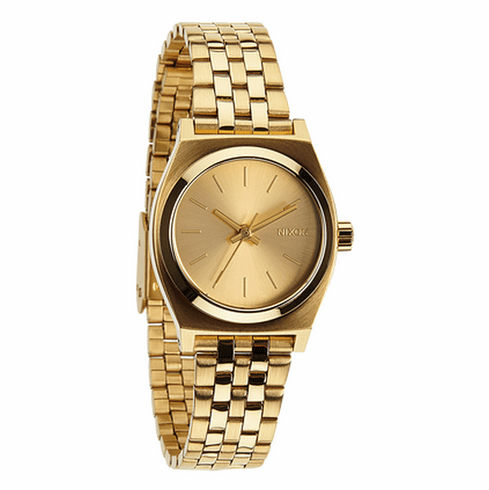 Nixon Small Time Teller Watch<br>All Gold