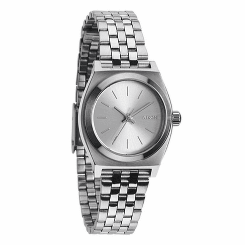 Nixon Small Time Teller Watch<br>All Silver