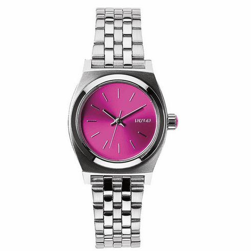 Nixon Small Time Teller Watch<br>Pink Sunray-B4B