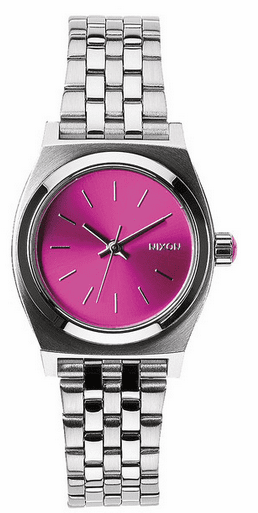 (SALE!!!) Nixon Small Time Teller Watch<br>Pink Sunray-B4B