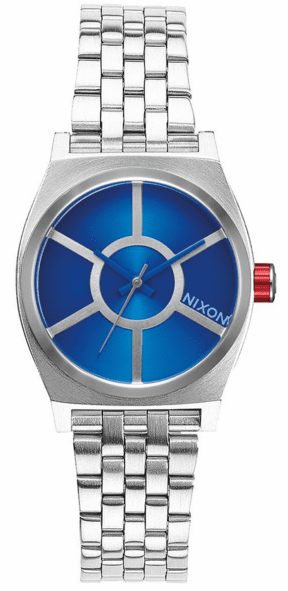 Nixon Small Time Teller Watch<br>STAR WARS X NIXON<br>R2D2 Blue