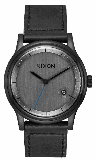 Nixon Station Leather Watch<br>All Black