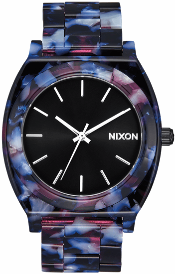 Nixon Time Teller Acetate Watch<br>Black/Multi