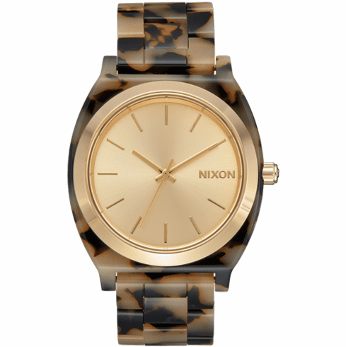 Nixon Time Teller Acetate Watch<br>Cream Tortoise