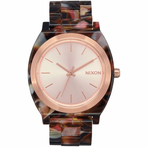 Nixon Time Teller Acetate Watch<br>Rose Gold/Pink