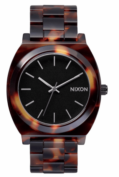 Nixon Time Teller Acetate Watch<br>Tortoise