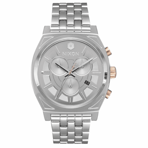 Nixon Time Teller Chrono Watch<BR>STAR WARS X NIXON<br>Phasma Silver