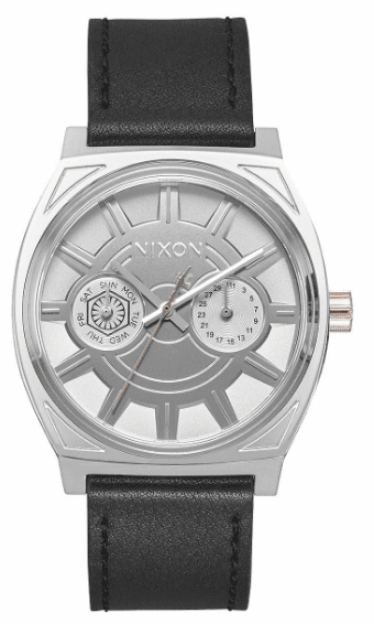 Nixon Time Teller Deluxe Leather Watch<BR>STAR WARS X NIXON<br>Phasma Black