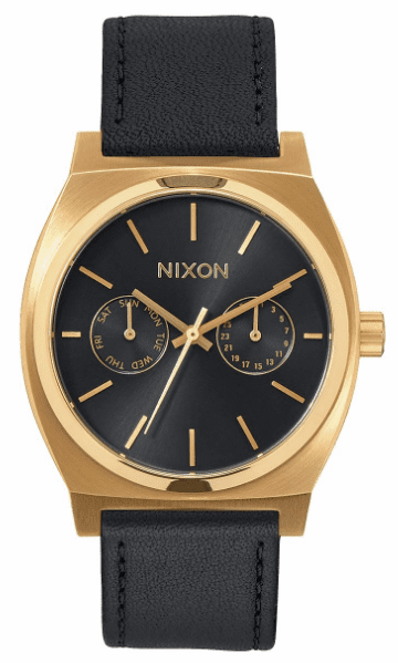 Nixon Time Teller Deluxe Leather Watch<br>Unisex