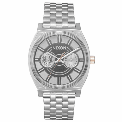 Nixon Time Teller Deluxe Watch<BR>STAR WARS X NIXON<br>Phasma Silver