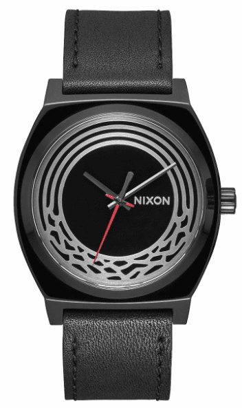 Nixon Time Teller Leather Watch<br>STAR WARS X NIXON<br>Kylo Black