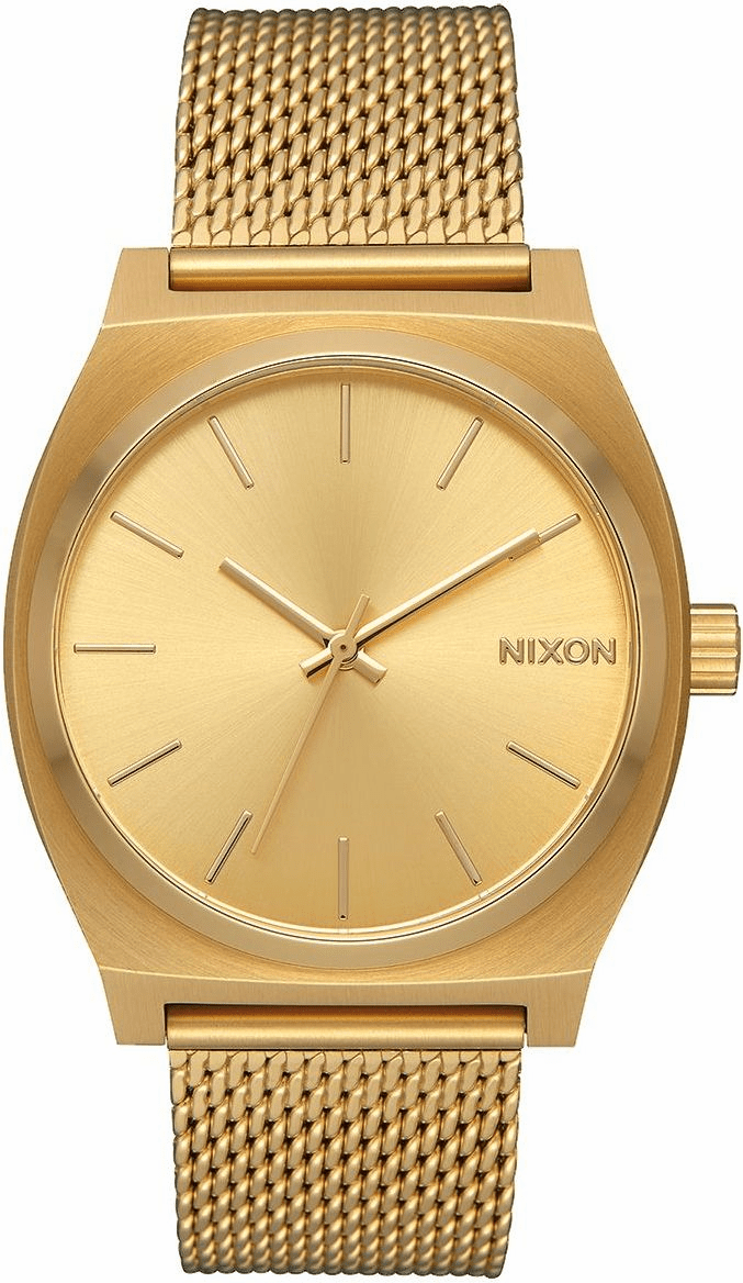Nixon Time Teller Milanese Watch<br>All Gold