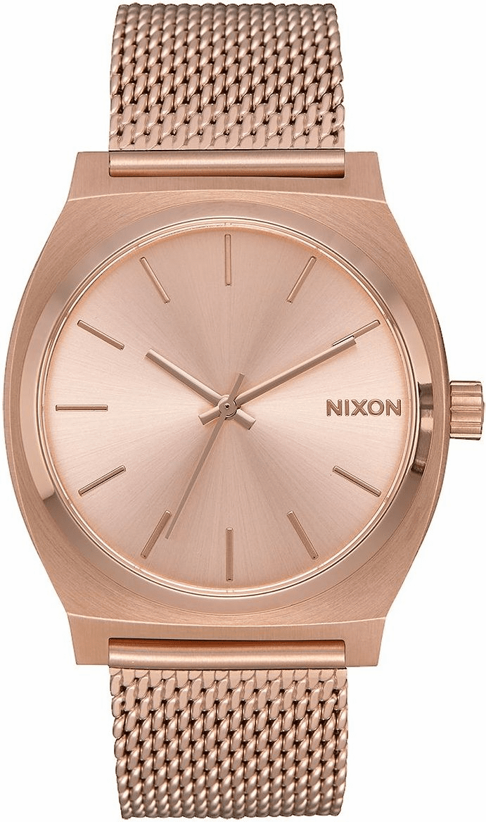 Nixon Time Teller Milanese Watch<br>All Rose Gold