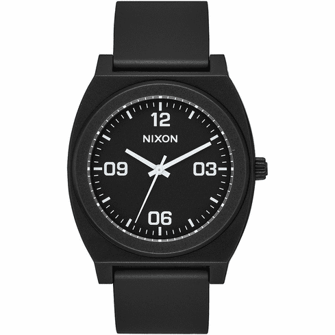 Nixon Time Teller P Corp Watch<br>Matte Black/White