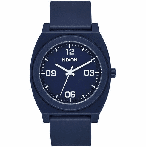 Nixon Time Teller P Corp Watch<br>Matte Navy/White