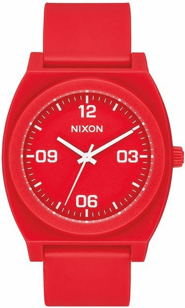 Nixon Time Teller P Corp Watch<br>Matte Red/White