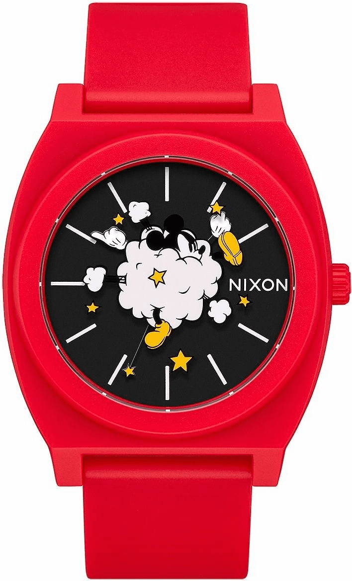 Nixon Time Teller P Watch<br>MICKEY X NIXON<br>Red/Black/Fight Cloud