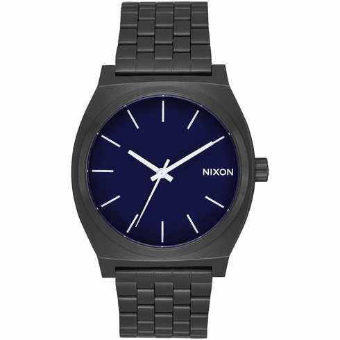 Nixon Time Teller Watch<br>All Black/Dark Blue