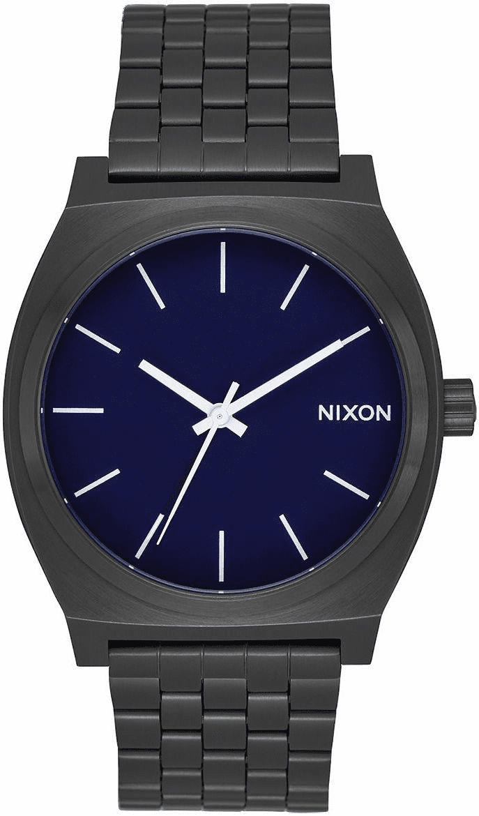 (SALE!!!) Nixon Time Teller Watch<br>All Black/Dark Blue