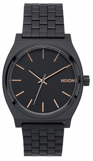 Nixon Time Teller Watch<br>All Black/Rose Gold