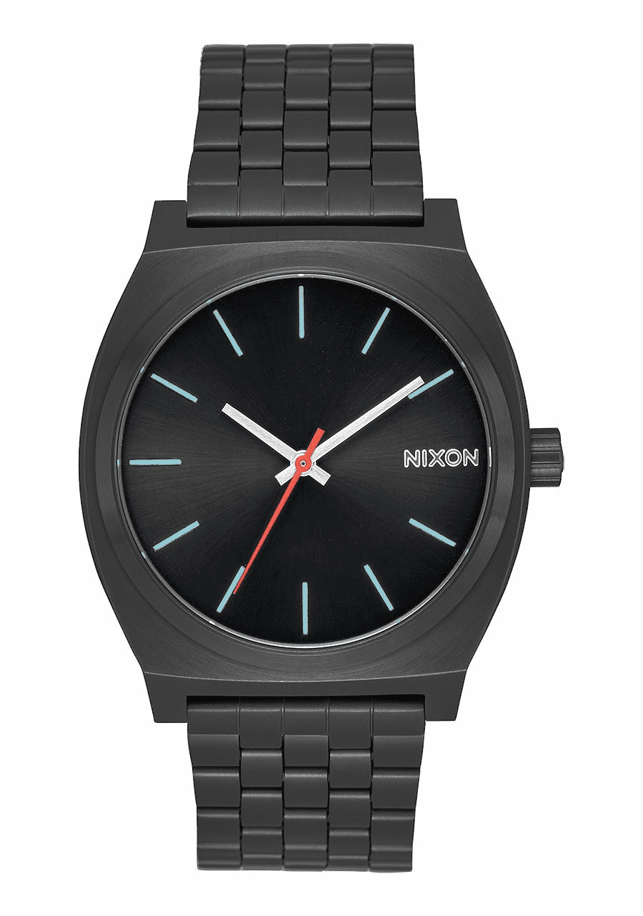 (SALE!!!) Nixon Time Teller Watch<br>All Black/Silver/Lum
