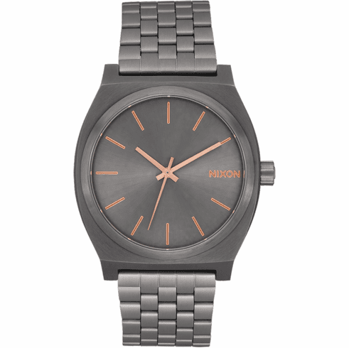 Nixon Time Teller Watch<br>All Gunmetal/Rose Gold