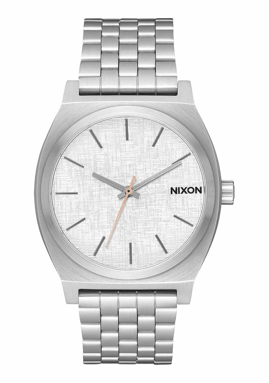 Nixon Time Teller Watch<br>All Silver/Rose Gold