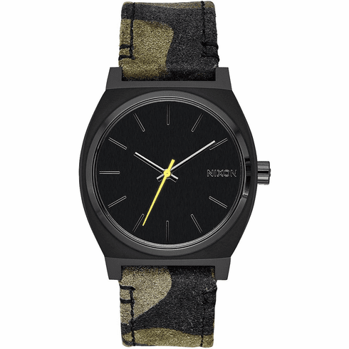 Nixon Time Teller Watch<br>Black/Camo/Volt