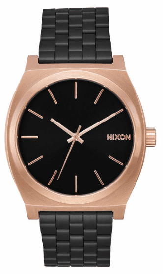 (SALE!!!) Nixon Time Teller Watch<br>Black/Rose/Black