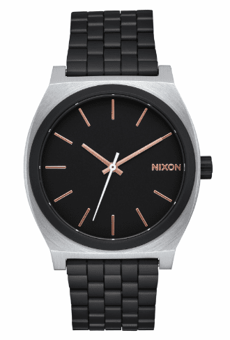 Nixon Time Teller Watch<br>Black/Rose Gold