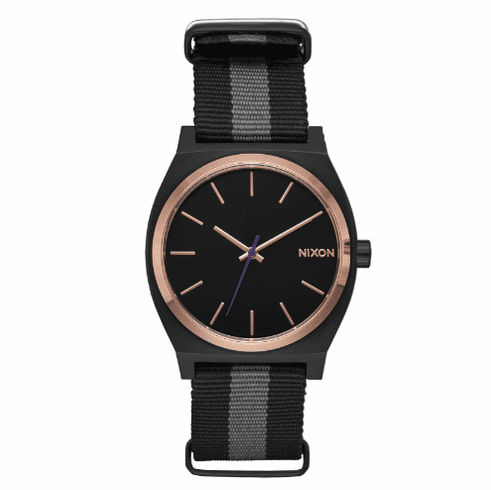 (SALE!!!) Nixon Time Teller Watch<br>Black/Rose Gold/Charcoal