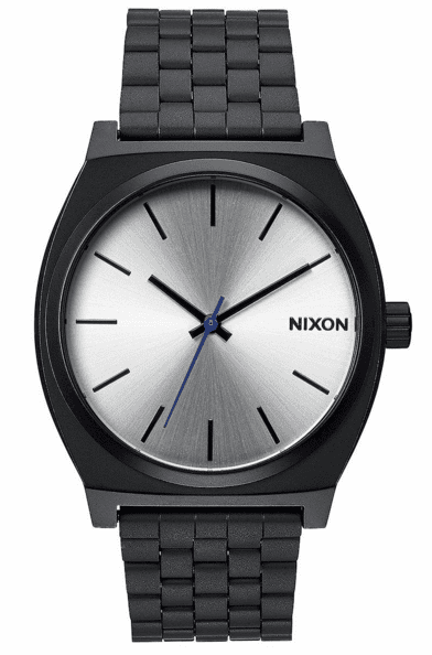 Nixon Time Teller Watch<br>Black/Silver