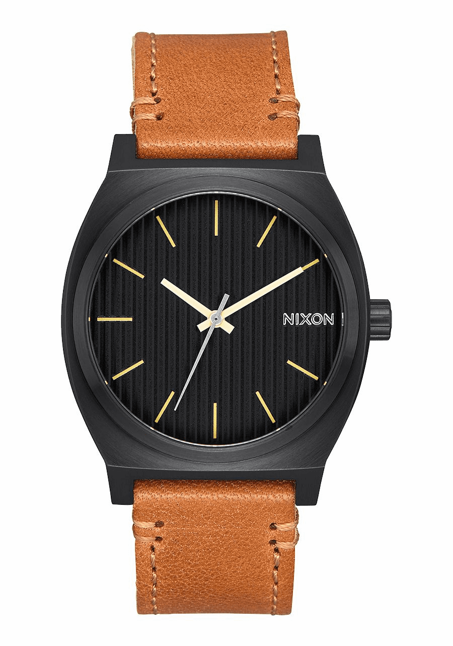 Nixon Time Teller Watch<br>Black/Stamped/Brown