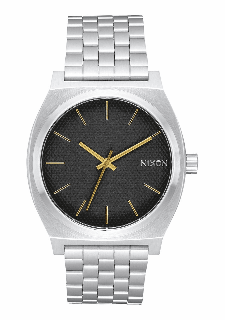 Nixon Time Teller Watch<br>Black Stamped/Gold