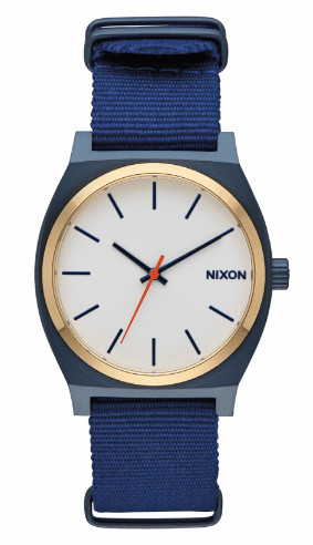 Nixon Time Teller Watch<br>Blue/Gold/White