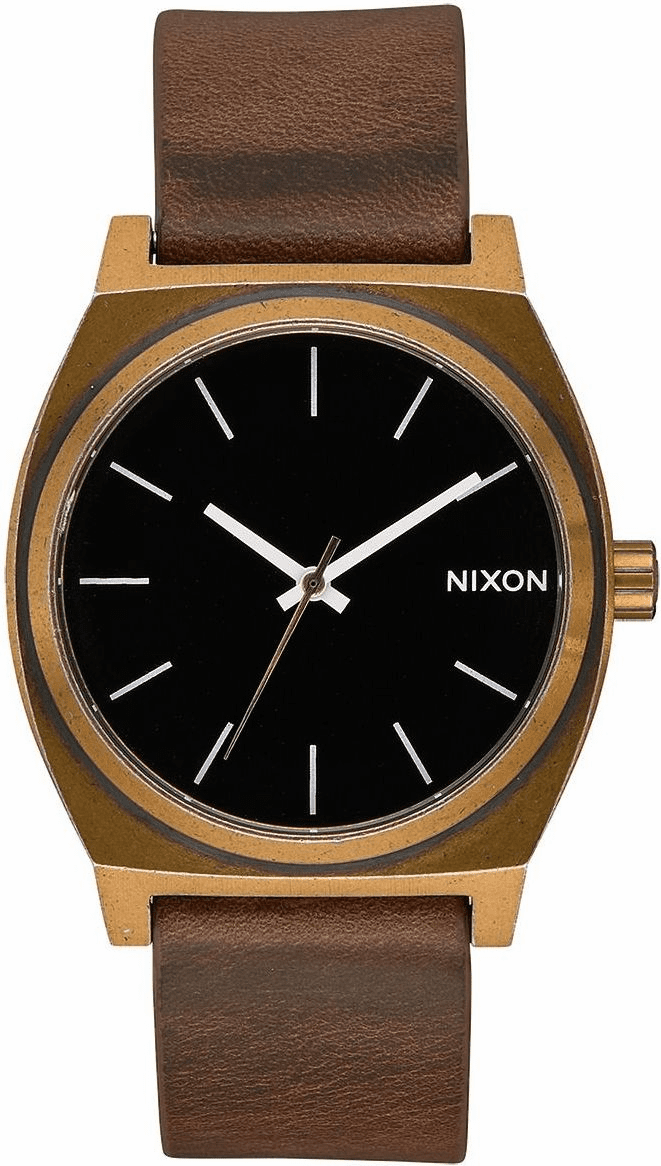 Nixon Time Teller Watch<br>Brass/Black/Brown