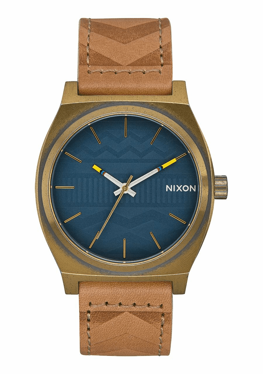 (SALE!!!) Nixon Time Teller Watch<br>Brass/Navy/Hickory