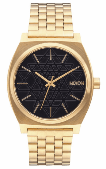Nixon Time Teller Watch<br>Gold/Black/Stamped