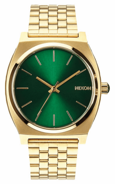 Nixon Time Teller Watch<br>Gold/Green Sunray