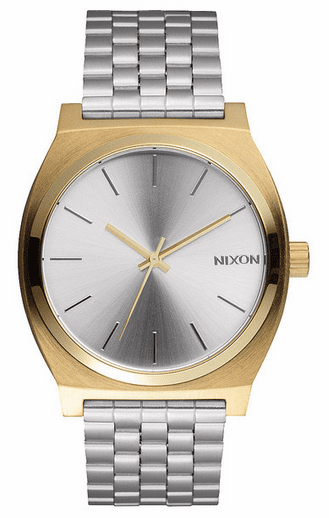 Nixon Time Teller Watch<br>Gold/Silver/Silver