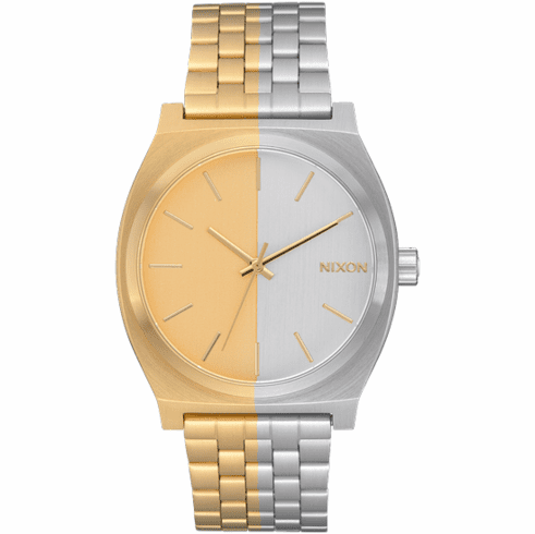 (SALE!!!) Nixon Time Teller Watch<br>Gold/Split