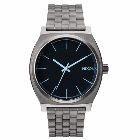 Nixon Time Teller Watch<br>Gunmetal/Blue Crystal