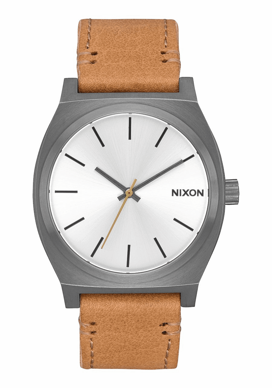 Nixon Time Teller Watch<br>Gunmetal/Silver/Tan
