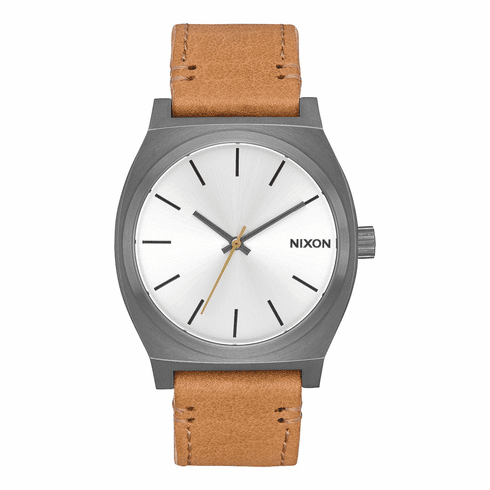 (SALE!!!) Nixon Time Teller Watch<br>Gunmetal/Silver/Tan