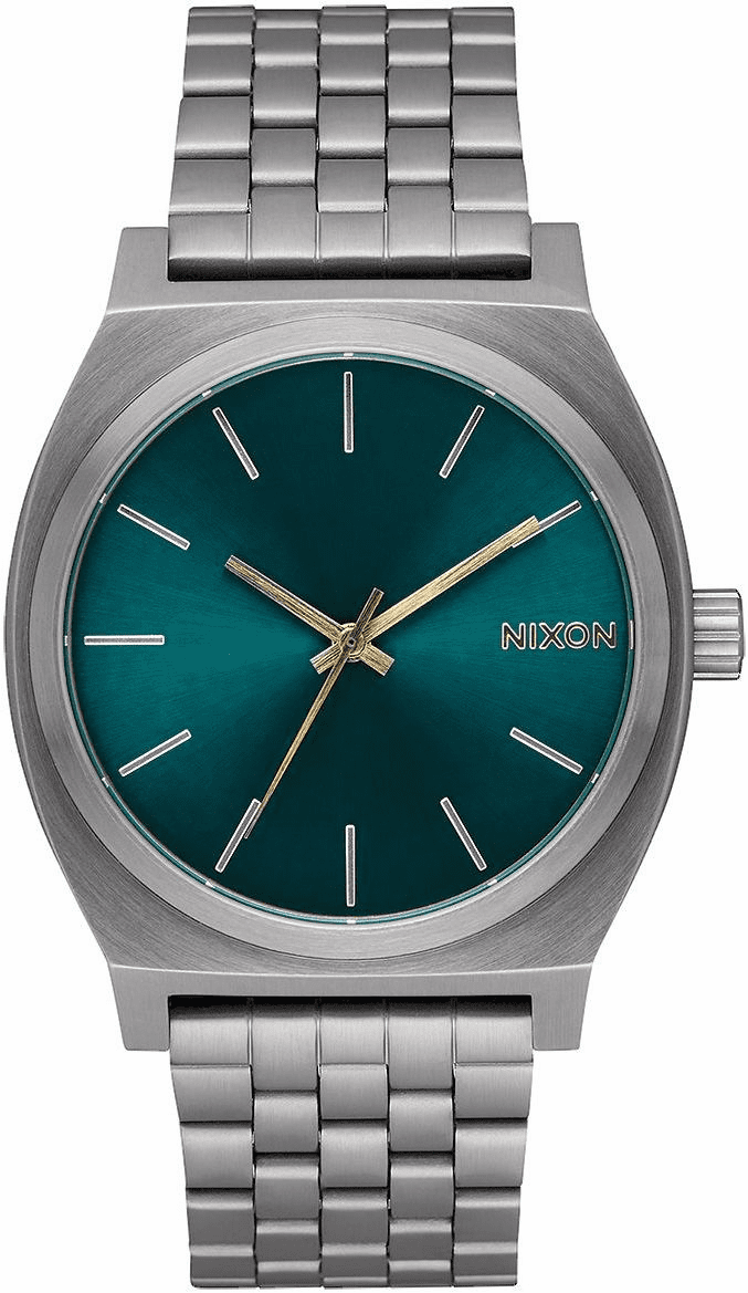 Nixon Time Teller Watch<br>Gunmetal/Spruce/Brass