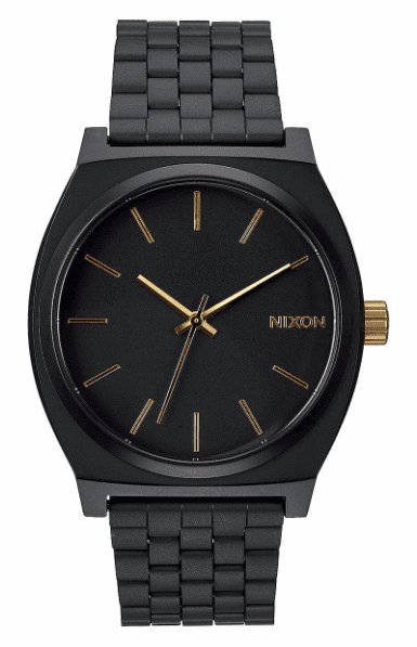 Nixon Time Teller Watch<br>Matte Black/Gold
