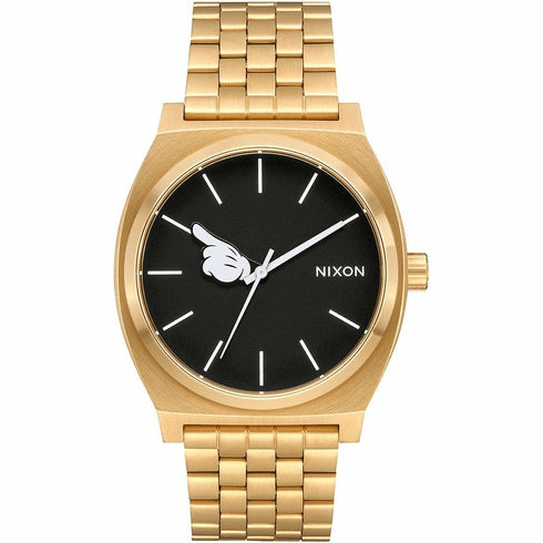 Nixon Time Teller Watch<br>MICKEY X NIXON<br>Gold/Black/Mickey Hand